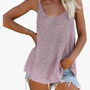 NEW knitted style woman's tank top medium